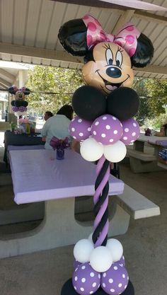 Minnie columns #followonfb #ballooncreationsbysandy