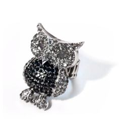 Black & Silver Owl Ring   $12