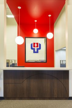 Paddle Palace, Tigard, OR, open office furniture, modern office design, reception desk, Design and Construction by Emmett Phair
