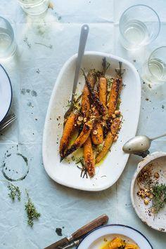 Cenouras assadas com