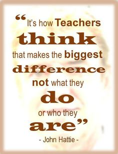 Listening to an old interview with John Hattie, these words stuck out. How do we teach teachers to think? Every lesson a teacher makes dozens (if not hundreds) of choices and decisions on the spot. There is no time to think it over, just to think on your feet. No … Continue reading