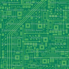 Robot Circuit Board (Green)