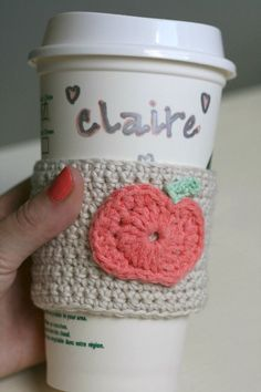 Crocheted Pumpkin mug cover