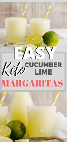 Easy Keto Cucumber Lime Margaritas Keto Cucumber Lime Margaritas - The easy delicious keto cocktail you should make for the NEW YEAR! Only 2 net carbs per serving! Make up a pitcher of margaritas for you friends and family at your next p Lime Margarita Recipe, Margarita Recipes, Cocktail Recipes, Margarita Cocktail, Cucumber Drink, Low Carb Cocktails, Comida Keto, Healthy Menu, Healthy Life