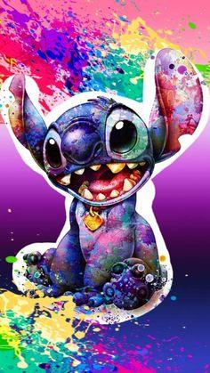 Cartoon Wallpaper Iphone, Disney Phone Wallpaper, Cute Cartoon Wallpapers, Cute Wallpaper Backgrounds, Colorful Wallpaper, Kawaii Disney, Disney Art, Disney Stitch, Cute Disney Drawings