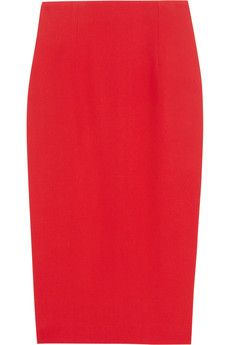 Pencil skirts are a staple for any professional  - Try this Alexander McQueen Crepe Pencil Skirt in red.  $630 @ Net-A-Porter