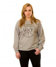 Logo Sweatshirt in Grey Graphic Sweatshirt, Logos, Sweatshirts, Grey, Sweaters, Collection, Fashion, Gray, Moda