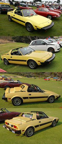 1988 Bertone X1/9 / Marcello Gandini / Fiat / Italy / yellow / Conceptcarz.com