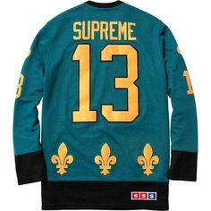 Supreme Hockey Jersey SIZE SMALL TEAL black fall winter 2013 tnf cdg s m l xl
