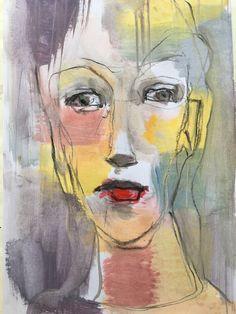 Abstract Portrait Painting, Abstract Face Art, Portrait Art, Painting & Drawing, Painting Prints, Art Visage, Atelier D Art, Organic Art, Encaustic Art