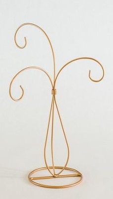 Ornament Stand, 3 Arms, Gold - Christianbook.com Wire Ornaments, Handmade Ornaments, Jewelry Stand, Jewelry Holder, Art Stand, Copper Art, Iron Furniture, Wire Art, Chrome