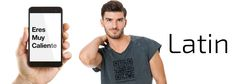The QR Code T-Shirt for #GayLatinMen & Their Admirers #NewGayCode