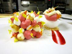 Coconut Raspberry Vacherin - Frozen Raspberry Semifreddo, Coconut Sorbet, Raspberry Foam, Coconut Cream, Coconut Merengue. by Pastry Chef Antonio Bachour, via Flickr
