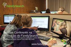 """""""Seja um Conferente na indexação do FamilySearch"""" —Se você tem mais de 1.000 registros indexados, entre os anos de 2016 e 2017, e ainda não é um conferente, então ligue em nosso Suporte fone 0800-891-6465 www.FamilySearch.org/indexing #indexacao #familysearch"""