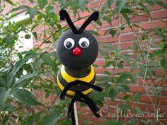 Summer Craft for Kids - Styrofoam Bumble Bee Craft 2