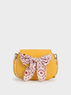Summer 2020 Responsible Collection: Girls' Bandana Print Bow Crossbody Bag, Yellow, hi-res Denim Romper, Pet Bottle, Bandana Print, Store Signs, Mini Me, Exclusive Collection, How To Make Bows, Summer Kids, My Outfit