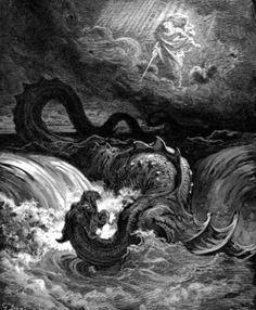 A leviatán legyőzése. Gustave Doré, 1865