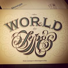 Typographic gift #Monotype #Jessica Hische by Eduardo Manso, via Flickr