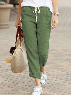 Soft Pants, Loose Pants, Cotton Pants, Linen Pants, Vestido Casual, Plus Size Pants, Drawstring Pants, Maxi Dress With Sleeves, Shirt Dress