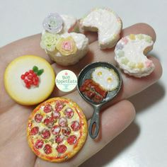 """bon-appeteats: """" All the new 1:12 scale dollhouse miniatures from last week. They'll be going up in my Etsy shop tomorrow! :) https://bonappeteats.etsy.com #handmade #polymerclay #miniatures #miniaturefood #dollhouse #food #oneinchscale..."""