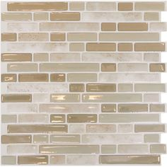 Craft an elegant backsplash in the kitchen or master bath with this self-adhesive subway tile, featuring a neutral finish to complement any decor.