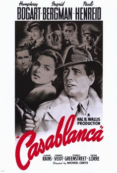 Casablanca (1942).  Bogey and Bergman in one of the most beloved movies in history.