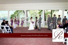 Ceremony at Shawnee Inn and Resort Wedding by Pocono photographer Rose Schaller Photo