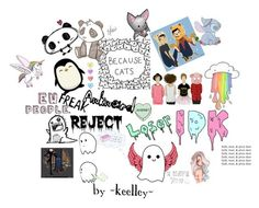 """""""BECAUSE CATS //KEELLEY"""" by audrey-panda ❤ liked on Polyvore featuring Panda and Hansen"""