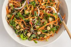 All you need to make this perfect spicy kale salad with chickpeas & maple dijon dressing is a few pantry staples and some fresh vegetables. Easy, simple, and delicious! Plant Based Foods List, Plant Based Diet Meals, Plant Based Meal Planning, Plant Diet, Plant Based Eating, Plant Based Recipes, Vegan Meal Plans, Diet Meal Plans, Whole Food Recipes