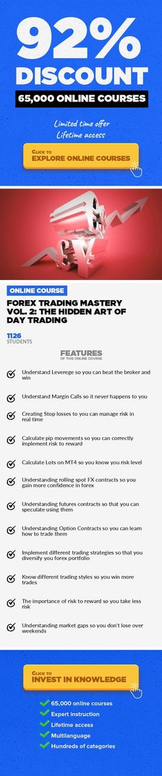 Forex Trading Mastery Vol. 2: The Hidden Art of Day Trading Finance, Business #onlinecourses #onlineclassescollege #onlinebusinessplan  The Ultimate Guide to Financial Freedom Through Simple Day Trading Strategies - Forex for Beginners,Technical Analysis In this course you will learn how to trade Forex in complete, simple terms. Guaranteed. You'll find an incredible system that elite traders u... #LearnToTradeTheForex