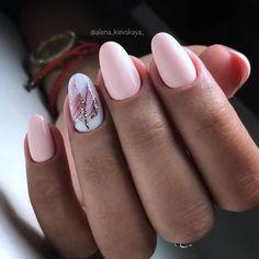 Fall Nail Designs - My Cool Nail Designs Hot Nails, Pink Nails, Hair And Nails, Pastel Nails, Fall Nail Designs, Cute Nail Designs, Nailed It, Oval Nails, Manicure E Pedicure