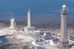 Les phares de  Penmarc'h pointe de Saint-Pierre, à Penmarc'h, dans le FinistèreBretagneFrance 47.798333,-4.372778