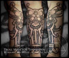 nordic god mask – Google-Suche Norse Tattoo, Viking Tattoos, Scandinavian Tattoo, Celtic Knot, Vikings, Instagram, Geo, Tattoo Ideas, Studio