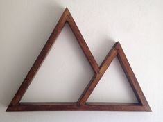 Double Triangle Shelf Right by CarpentressLawless on Etsy