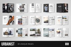 Urbanist Magazine InDesign Template by Mate Toth on @creativemarket