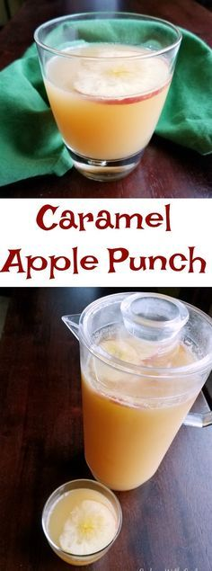 This caramel apple punch couldn't be simpler to make. With just 3 ingredients, it takes almost no time to make. It is perfect for fall parties!