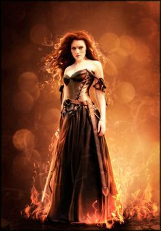 Fire sorceress? this would make an awesome costume...