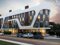 Selay Apartmanı - Minerva Mimarlık - İzmir Hospital Architecture, Office Building Architecture, Home Building Design, Building Facade, Modern Architecture House, Futuristic Architecture, Facade Architecture, Modern Exterior House Designs, Exterior Design