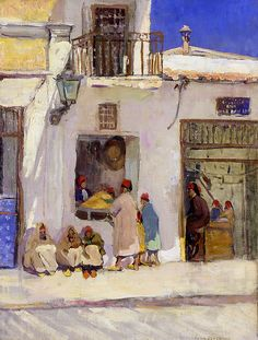 """""""A Shop, Tunis,"""" Jane Peterson, oil on canvas, 24 x 18"""", private collection."""