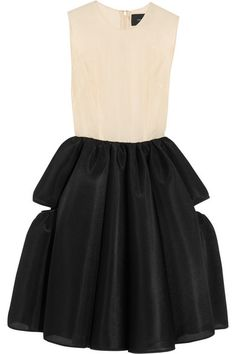 SIMONE ROCHA Organza and scuba-mesh dress