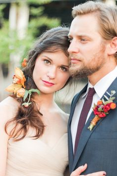 Moody, Romantic Fall Wedding Inspiration|Photographer: Dalton Smiley Photography