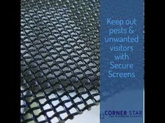 Keep unwanted visitors out with Secure Screens by Corner Star. Our Secure Screens are tough and reliable due to high quality stainless steel mesh and locks. Mesh Screen, Stainless Steel Mesh, Screens, Locks, Corner, Make It Yourself, Stars, Canvases, Door Latches