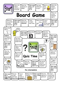Board Game - Quiz Time (Pre-intermediate)