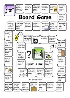 Board Game - Quiz Time (Pre-intermediate)