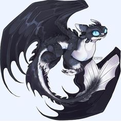 Night Light dragon of Toothless and Light Fury Httyd Dragons, Dreamworks Dragons, Cute Dragons, Mythical Creatures Art, Fantasy Creatures, Hicks Und Astrid, Toothless Drawing, Night Fury Dragon, Dragon Artwork