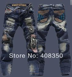 Slim fit style design, the trousers slightly shrink can elongate the leg line. -Fabric: Denim Slim Skinny Low Tapered Fitted Biker Jeans Fashion collocation:Sneakers,T-shirt,Suit jacket,Denim shirt. Blue Jeans, Denim Pants, Denim Shirt, Men's Jeans, Hot Men, Gucci Jeans, Ripped Jeans Men, Jean Straight, Cheap Jeans