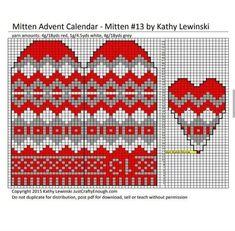 Jumper Knitting Pattern, Mittens Pattern, Knit Mittens, Knitting Patterns, Fair Isle Chart, Brazilian Embroidery, Knitting Accessories, Advent Calendar, Garland