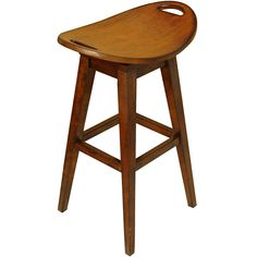 Update your home decor with a new stoolDining room furniture features a cherry wood finishBar stool also features a 'return swivel' mechanism