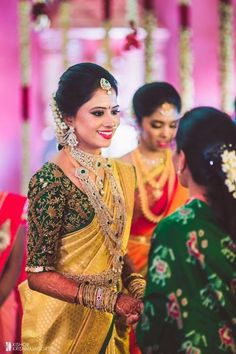 Blouses are of different sorts and every sort makes us fall head over heels… - Wedding Saree Blouse Designs, Half Saree Designs, Saree Blouse Neck Designs, Fancy Blouse Designs, Saree Wedding, Wedding Blouses, South Indian Bride Saree, Bridal Sarees South Indian, Indian Bridal Fashion