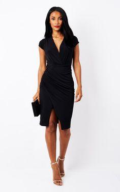 14ba9617f1d Black Short Sleeve Overlay Dress Phoenix Feather